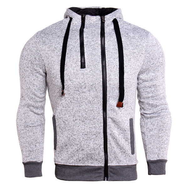 Double Zip Slim Fit Hooded Jacket