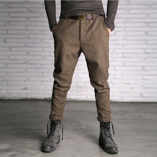 Evan - Slim Leg Cotton Pants
