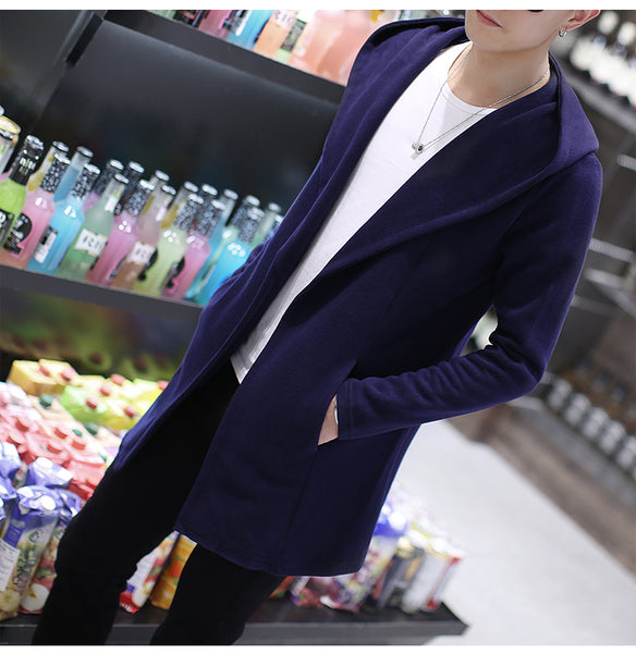 Knitted Slim Fit Hooded Cardigan