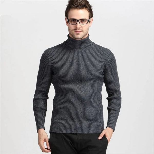Liam - Ribbed Turtleneck Sweater