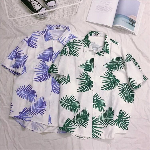 Todd - Palm Leaves Hawaiian Shirt