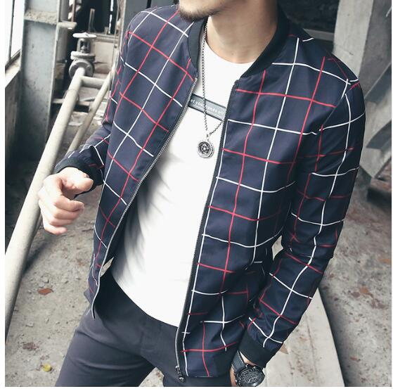 Amos - Plaid Windbreaker Zip Jacket