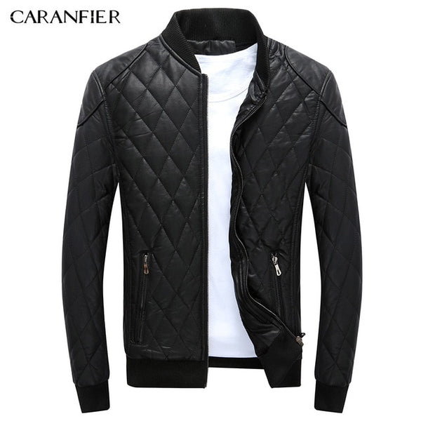Lyndon - Thick Winter Motorcycle Leather Jacket