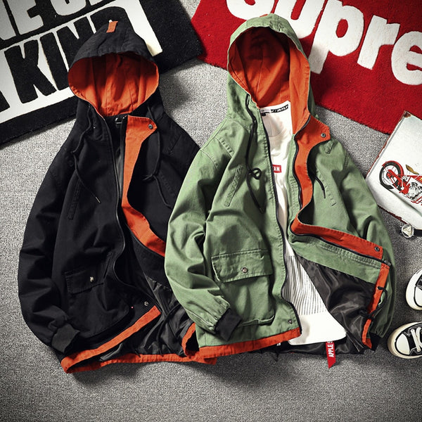 Joaquin - Zip Up Hooded Windbreaker Jacket