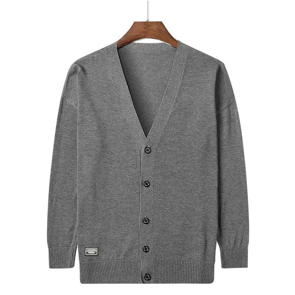 Amias - V-Neck Button Down Cardigan