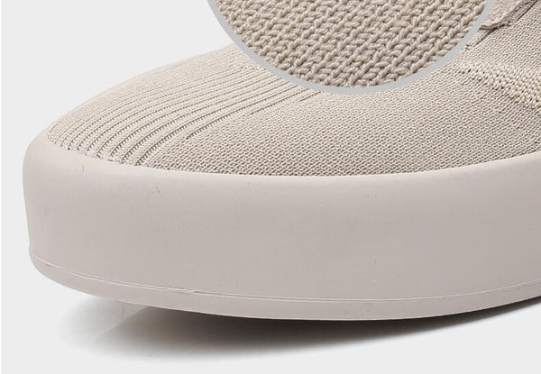 Grover - Thick Sole High Rise Fabric Sneakers