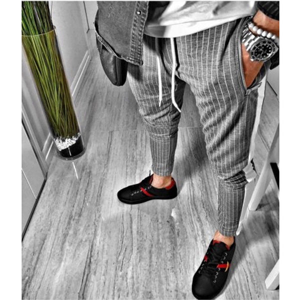 Harley - Pin Striped Slim Fit Sweatpants