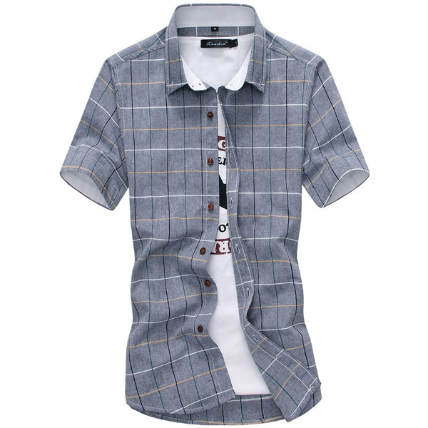 Tommy - Plaid Cotton Collared Shirt