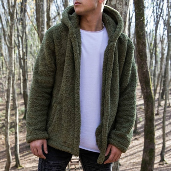 Thick Fleece Hooded Winter Jacket