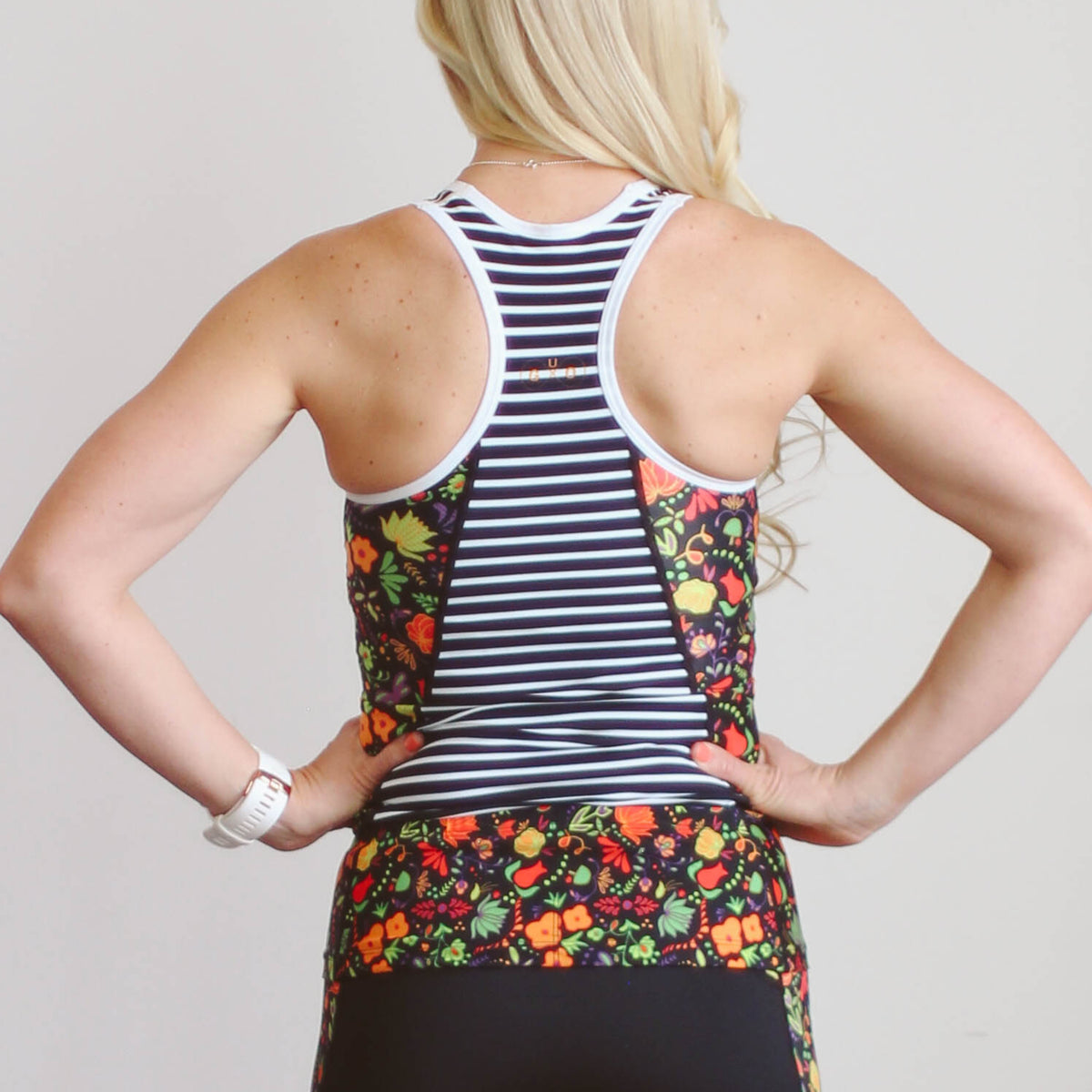 Whimsical Floral Tri Tank