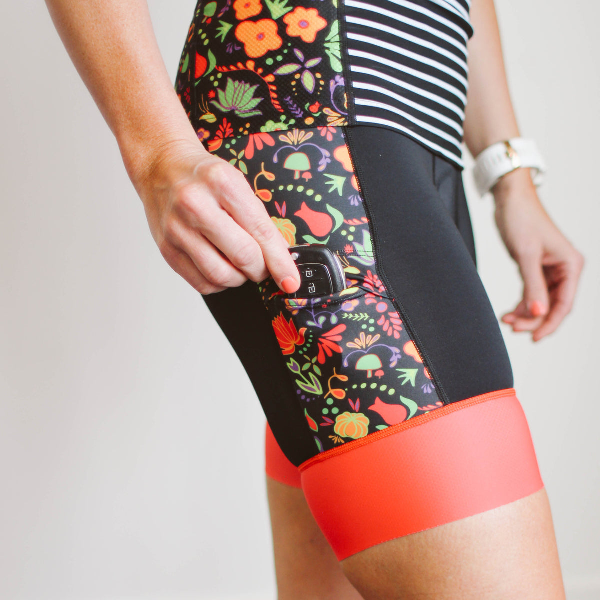 Whimsical Floral Tri Shorts
