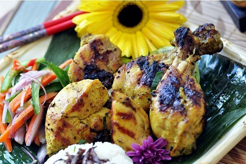 Ayam Panggang Sulawesi - Grilled Coconut Chicken with Lemon Basil