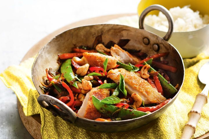 Crispy Chicken Chilli Stir Fry