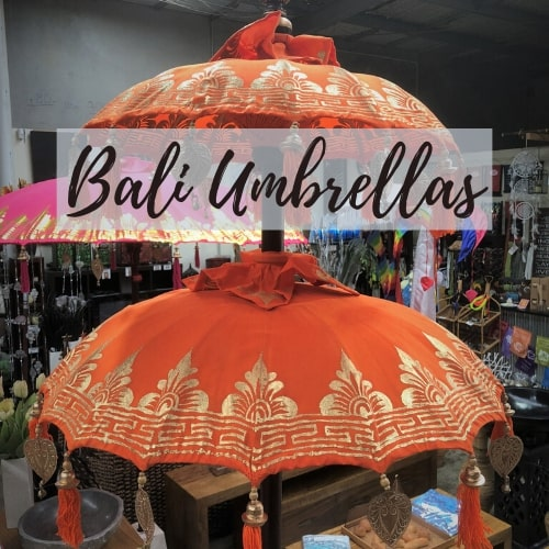 Colourful Balinese Umbrellas
