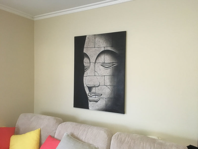 Buddha Face Canvas Painting Wall Art