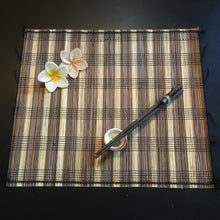 Load image into Gallery viewer, Balinese Lidi stick Placemats, Ceramic Spice Bowls and Chopsticks 6pk