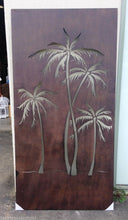 Steel Metal Rust Design Tropicana Palm Tree Wall Hanging Screen