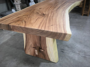 """Belair"" Raw Edge Solid Timber Dining Table"