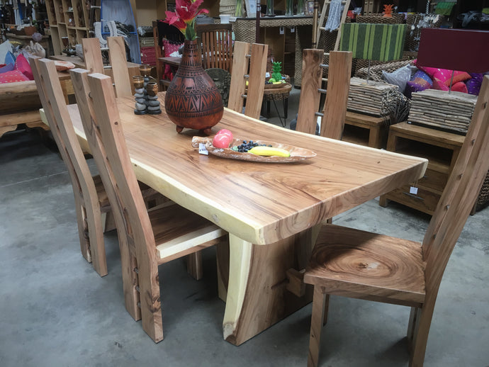 Raw edge dining table