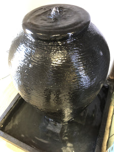GRC Black Vase Water feature