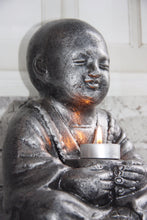 Silver Balinese Monk Candle Holder 10059