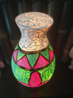 Hand Painted Flower Lamp Shade