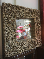 Hand Crafted Natural Wood Framed Mirror