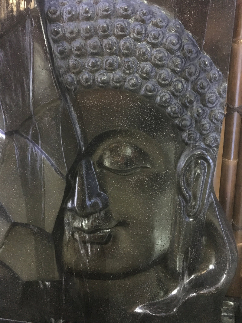Terrazzo Abstract Buddha Face Water Feature
