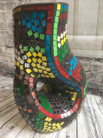 Mosaic Curved Hollow Vase