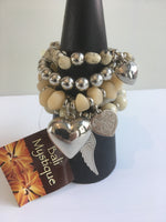 Balinese beaded Bracelet set with Charms