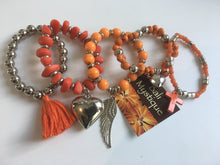 Balinese beaded Bracelet set with Charms #10105