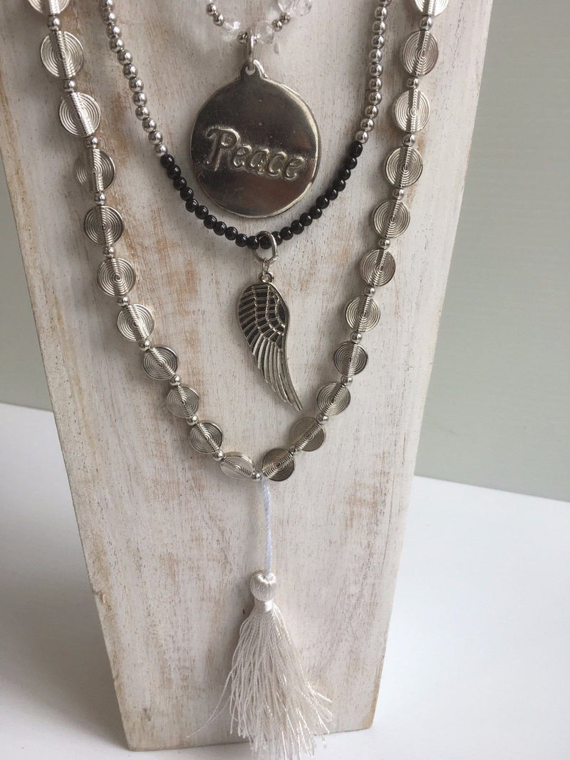 Balinese beaded Necklace set with Charms