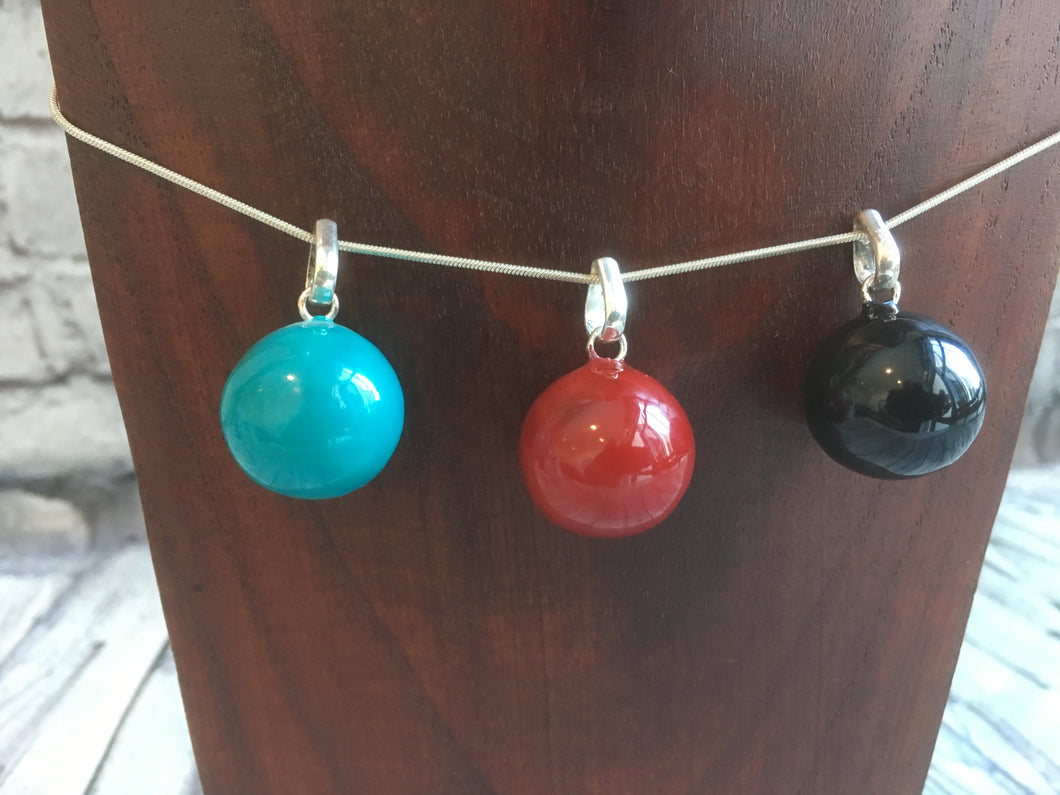 Coloured Harmony Ball Pendant and Chain