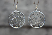 Silver Plated Tree of Life Earrings 10117
