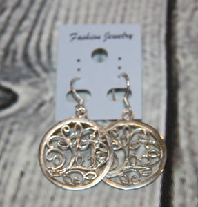 Silver Plated Tree of Life Earrings