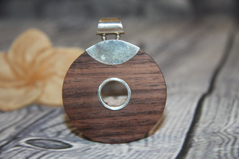 Wooden Circle of Life Pendant