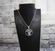 Silver Plated Palm Tree of Life Pendant and Chain