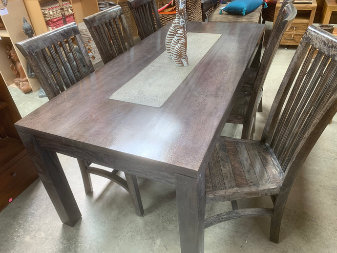 6 Seater Dining Table with Terrazzo Insert