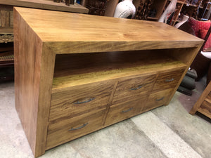 Fruitwood 6 Drawer Buffet TV Cabinet 10128