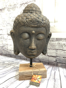 Small Buddha Head on Stand 10136