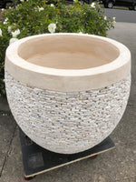 Balinese Stone Inlay Garden Pot