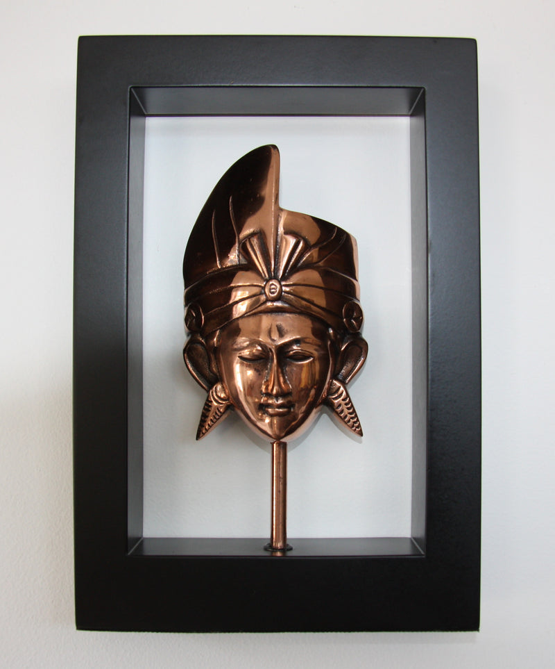 Pria Mask in Wooden Frame