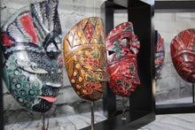 Painted Masks in Wooden Frame 10150