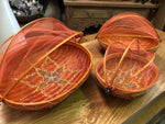 Oval Bamboo Food Covers with Painted Design