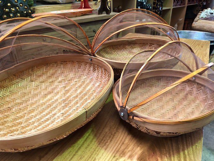 Oval Bamboo Food covers