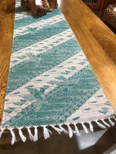 Mendong Fibre Table Runners with Green Print 10159