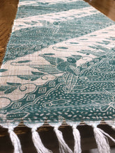 Mendong Fibre Table Runners with Green Print