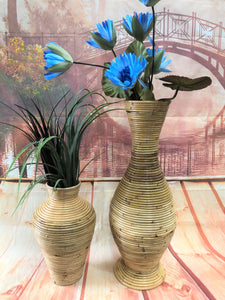 Hand Made Cane/Rattan Vase 10164