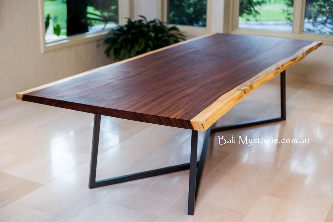 Raw Edge Solid 8 Seater Dining Table