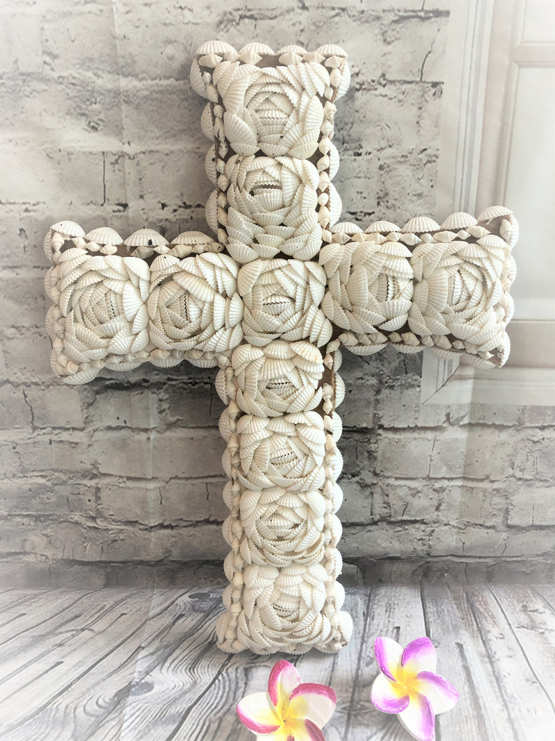 Hand Made Shell Cross
